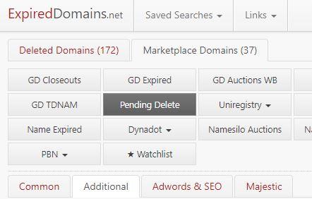 ExpiredDomains.net Pending Delete Domains